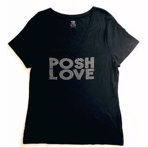 Posh Love personalized black Size XXL T-shirt